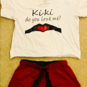 "Other - Girls ""Kiki Do You Love Me?"" PJ Set"